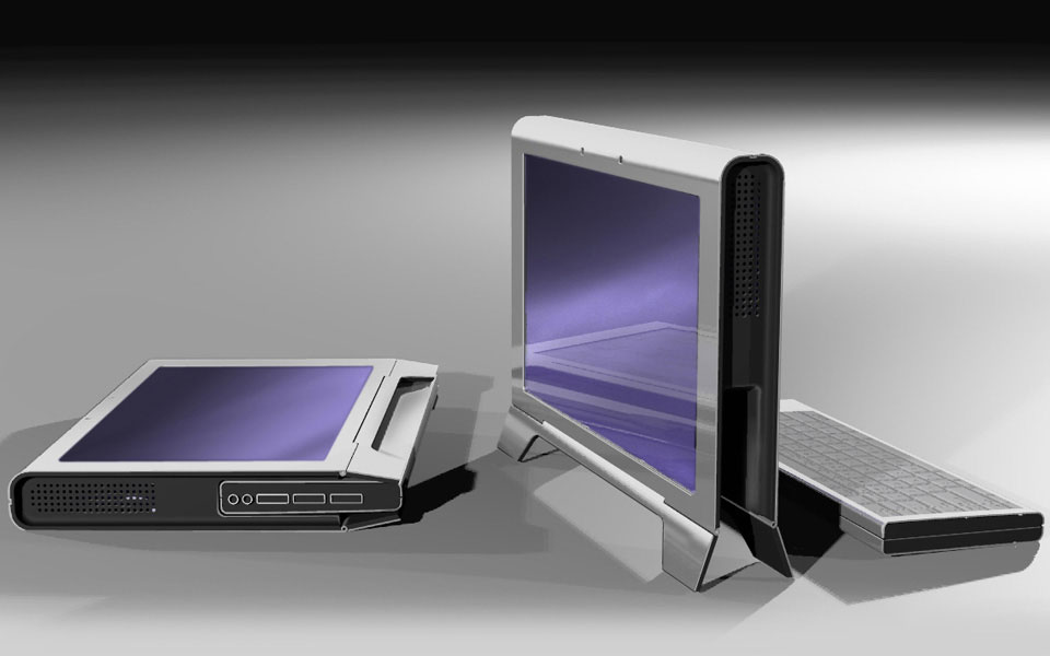 Dual screen laptop concept for SpatialView